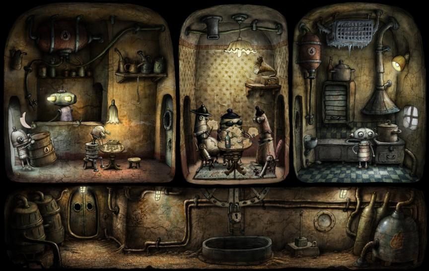 Screenshots aus Machinarium.