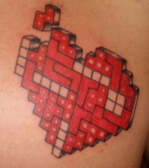 Gaming-Tattoos: Tetris mal kreativ. (1)