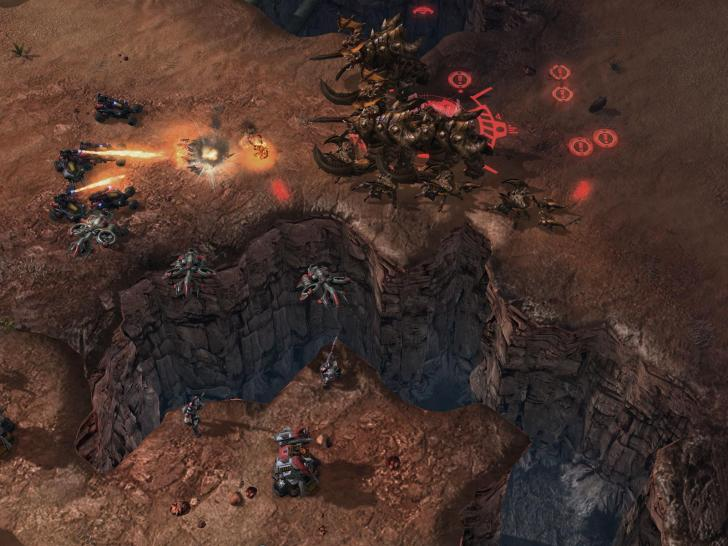 Aktuelle Screenshots aus Starcraft 2.