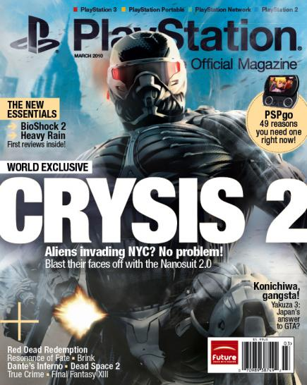 Magazin-Cover: Crysis 2 spielt in New York City, inklusive Aliens.