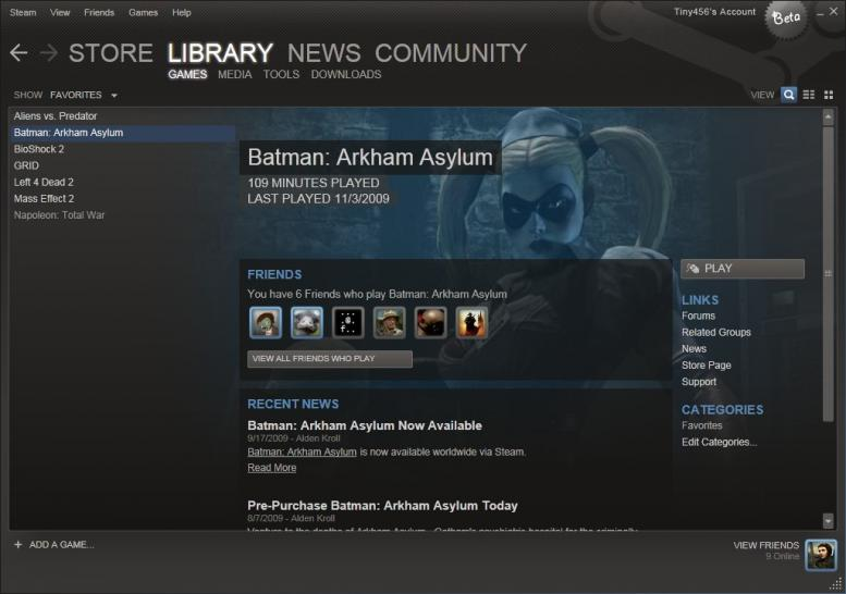 Screenshots des neuen Steam-Clients.