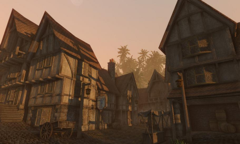 New World Port auf Basis der CryEngine 2 mit Fable 2 und Fluch der Karibik-Style.