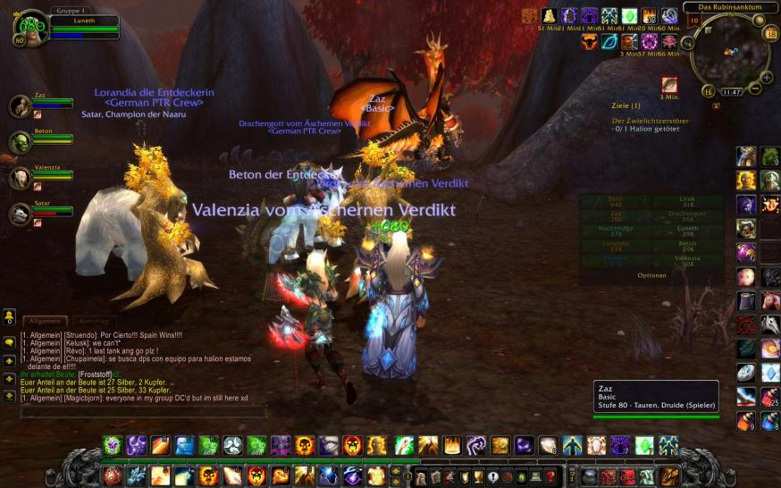Screenshots aus dem Rubinsanktum von World of Warcraft