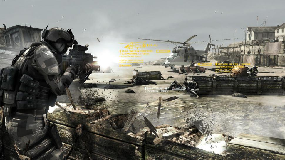 Screenshots aus Ghost Recon: Future Soldier und Assassin's Creed: Brotherhood.