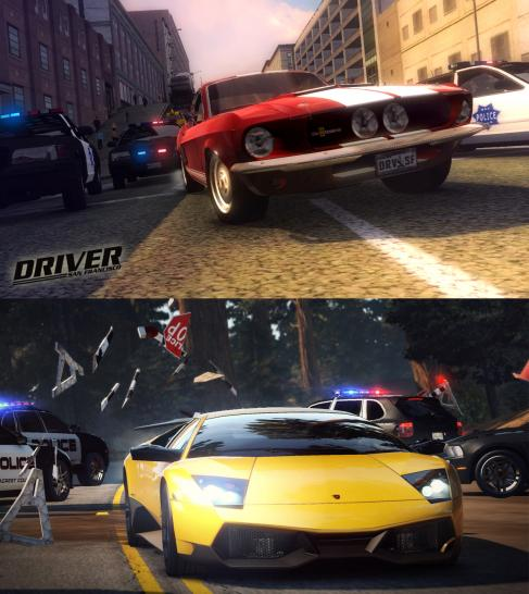 Driver: San Francisco vs. Need for Speed: Hot Pursuit.