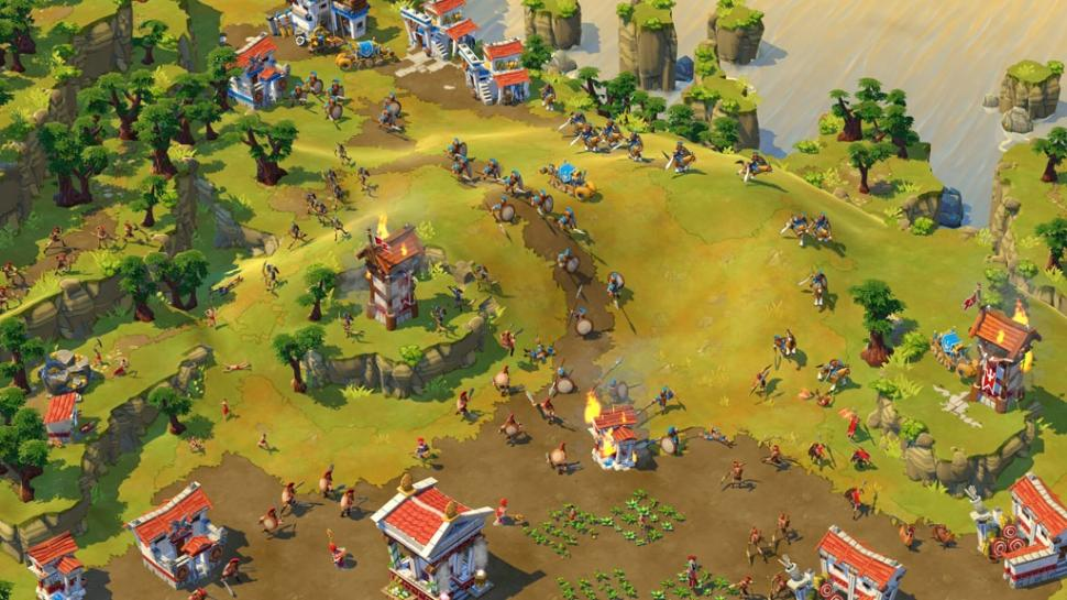 Screenshots aus Age of Empires Online.