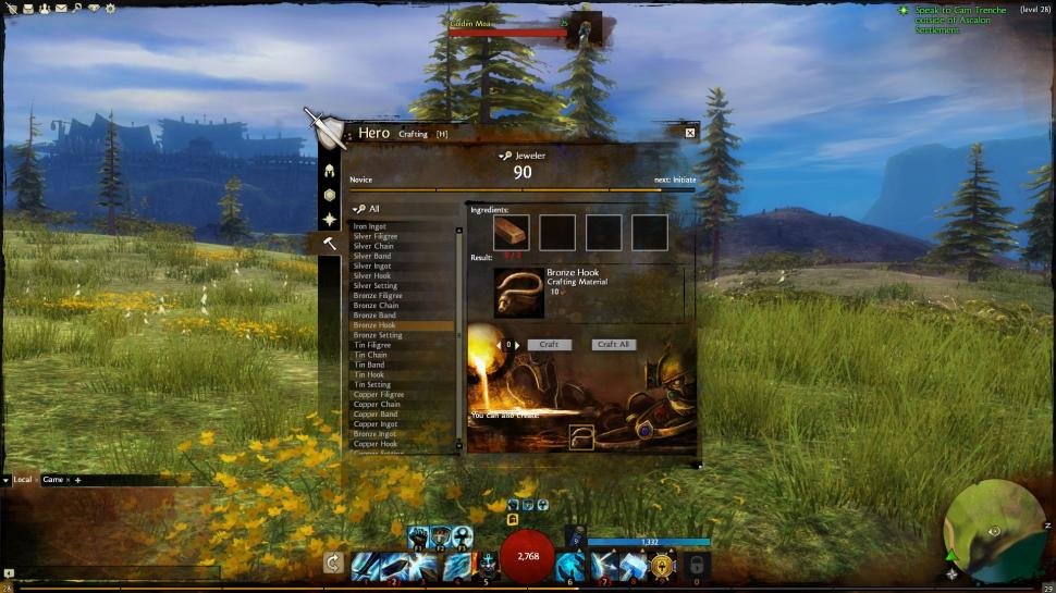 Guild Wars 2: Das Crafting-System folgt dem Motto Learning by Doing. (Interface noch nicht final)