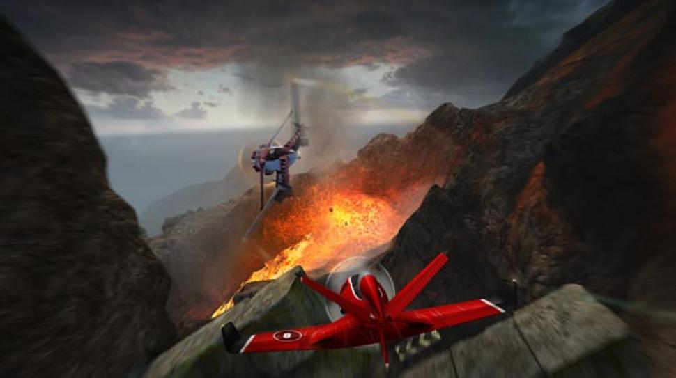 "Digital Reaitiy bringt das Gameplay von Skydrift prägnant auf den Punkt: ""IF YOU CAN'T OVERTAKE, SHOOT THEM DOWN!"" (1)"