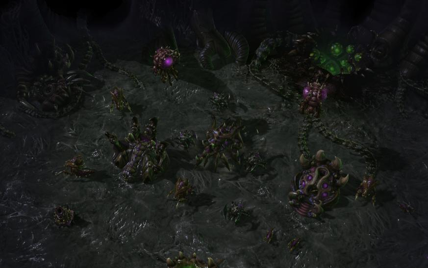 Hier gibt es Screenshots und Artworks aus Starcraft 2: Heart of the Swarm. (1)