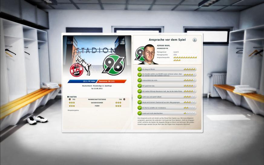 Bilder screenshots zu fussball manager 12 mehr als 700 verbesserungen