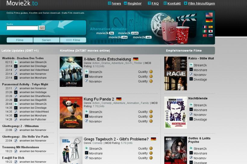 Bilder/Screenshots zu Kino.to, movie2k.to, neu.to: Hintergründe, was