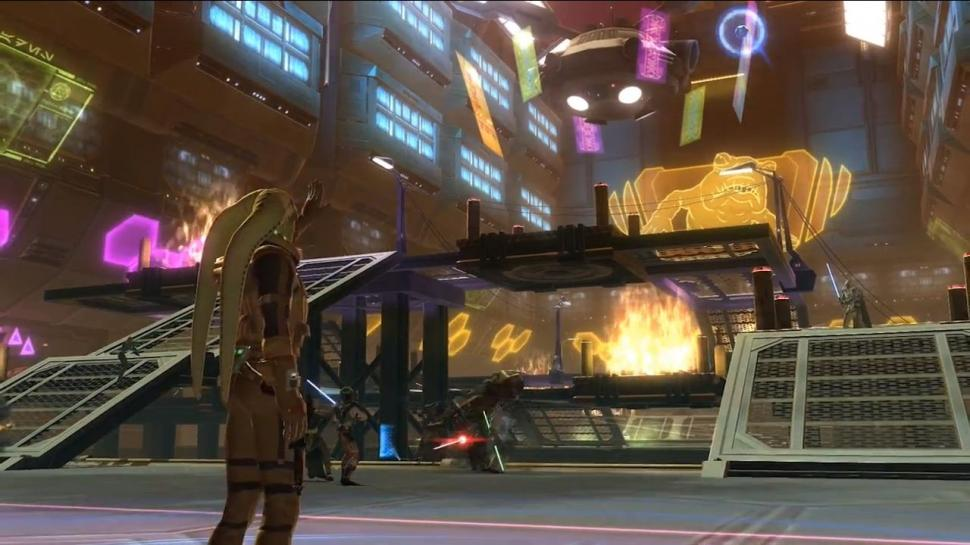 Das Spielchen Huttenball erinnert in Star Wars: The Old Republic stark an American Football.