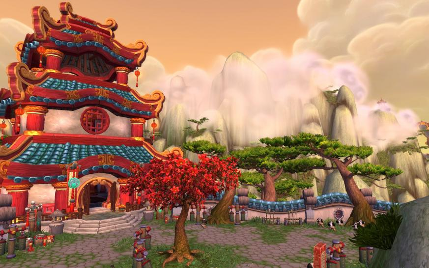 Wandering Isle aus WoW: Mists of Pandaria