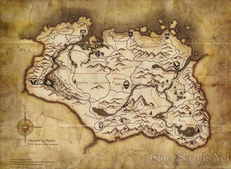 Oblivion Karte.The Elder Scrolls 5 Skyrim Weltkarte Der Collector S Edition