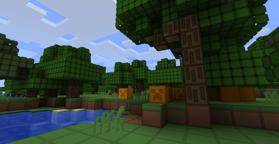 Minecraft Texture Pack: <b>Simple Squares</b>