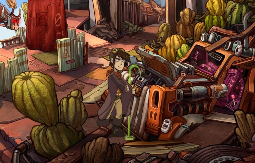 Deponia im Test: Screenshots aus dem Adventure von Deadalic Entertainment. (1)