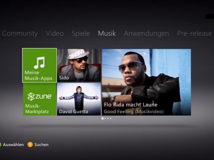 Xbox 360 - Bilder des Dashboards (1)