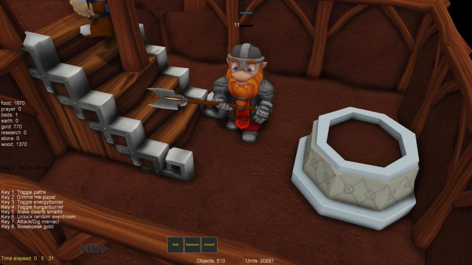 A Game of Dwarves: Gamescom-Gameplay-Trailer zum Dungeon Keeper-ähnlichen Strategiespiel. (1)