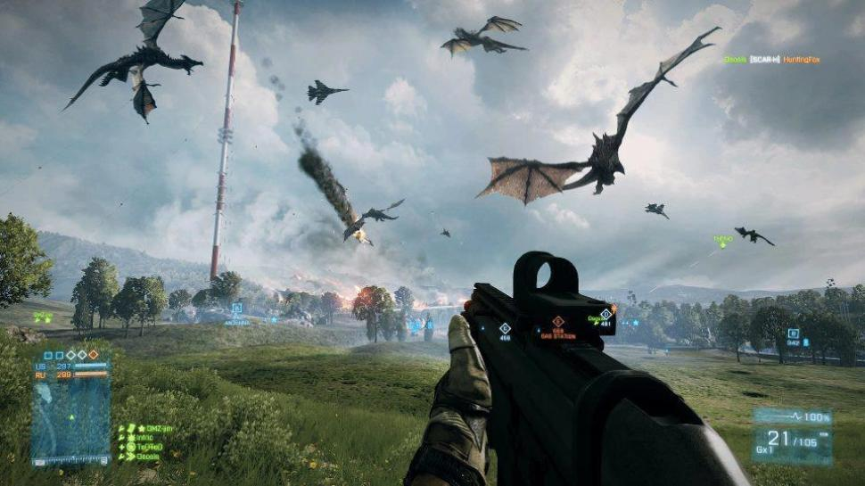 Skyrim trifft auf Battlefield 3: Fan-Collagen der imposanten Art.