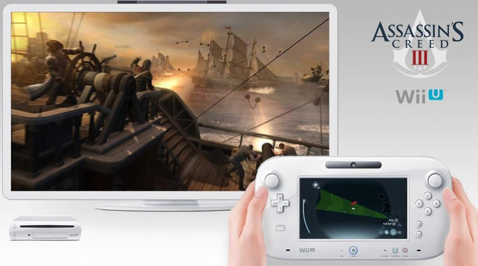 Wii U - Bilder zu Assassin's Creed 3 mit weißem Tablet. (1)