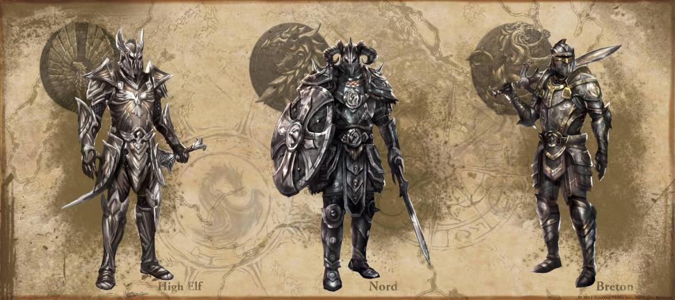 The Elder Scrolls Online Artwork Zeigt Rüstungsentwürfe