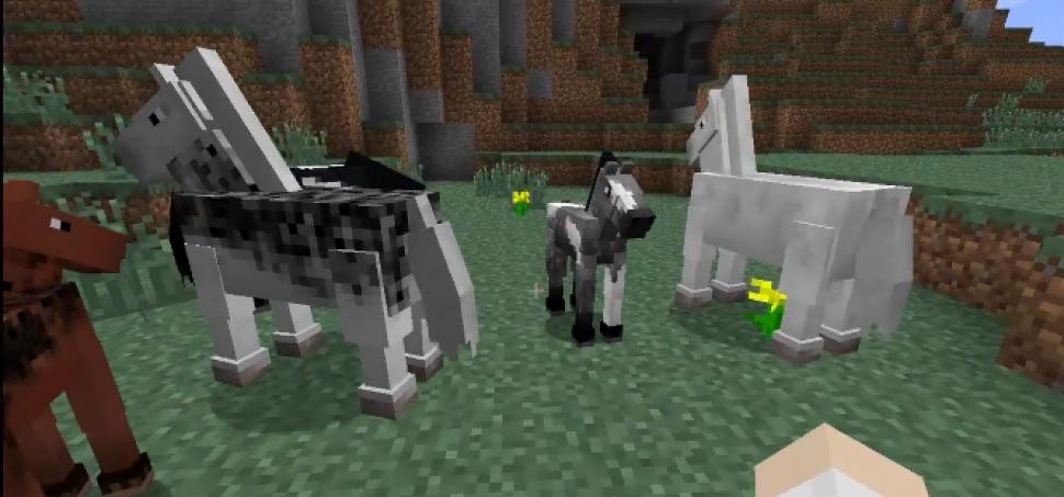 Minecraft Patch Pferde Leine Heuballen Und Mehr In Der Video - Minecraft spiele mit pferden