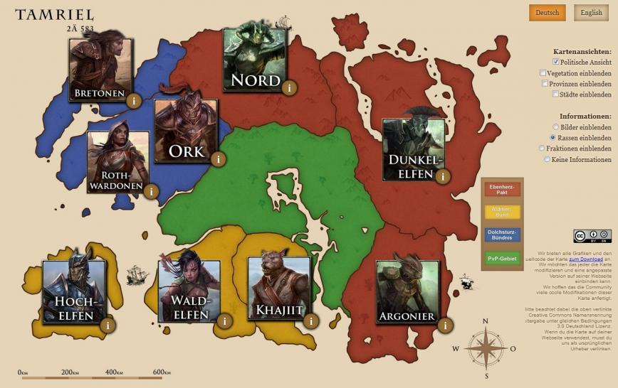 The Elder Scrolls Online: Durchqueren der Spielwelt nimmt über acht ...