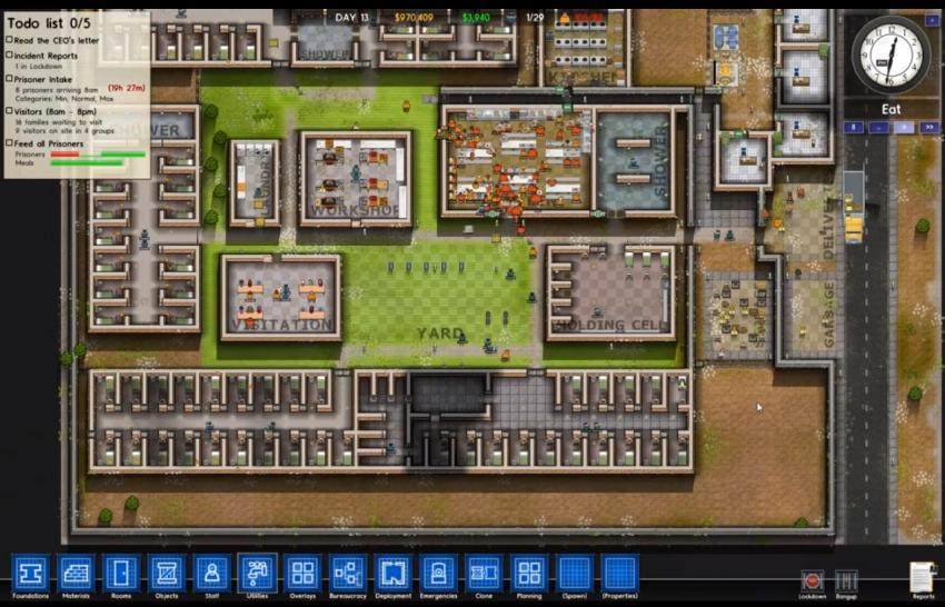 Prison architect grafik gameplay alpha for Jail architect