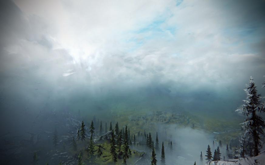 Die Real Clouds-Mod macht dreidimensionale Wolken in The Elder Scrolls 5: Skyrim möglich. (1)