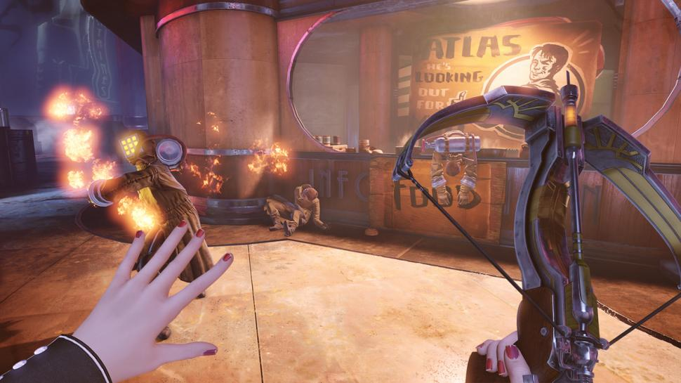 Elizabeth (im Bild) erhält in Bioshock Infinite: Burial at Sea Episode Two die Armbrust als Waffe. (1)