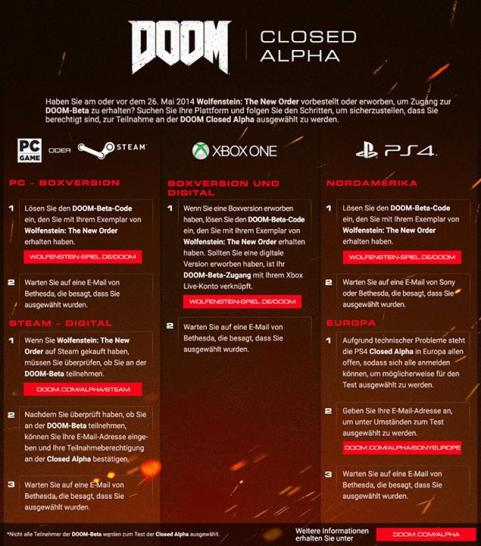Doom: Closed Alpha angekündigt