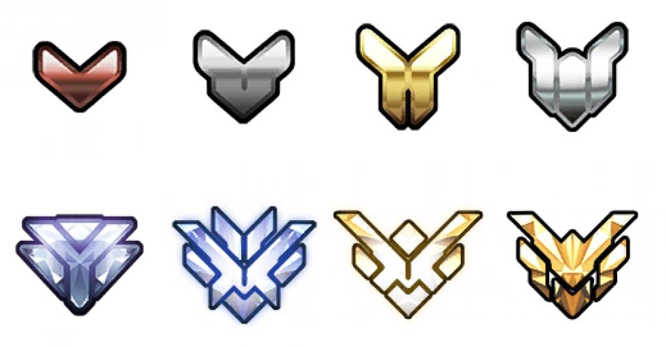 overwatch ränge symbole
