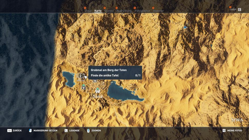 Konige Der Finsternis Karte.Assassin S Creed Origins Komplettlosung Locations Guide