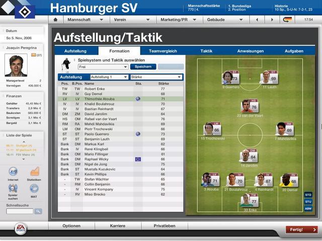 Datenbank Update Fur Den Fussball Manager 07 Steht Bereit