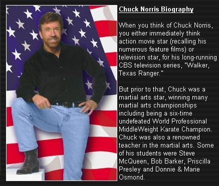 Witze über Chuck Norris