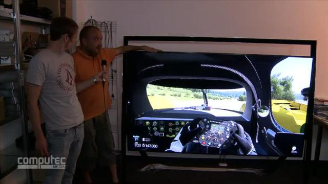 project cars auf einem 4k fernseher mit 85 zoll f r. Black Bedroom Furniture Sets. Home Design Ideas