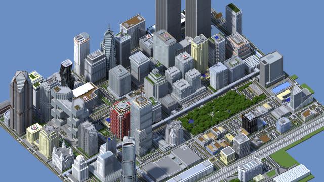 Minecraft Millionen Steine Und Jahre Bauzeit USStudent - Minecraft hochhauser