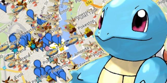 Pokemon GO Karte Deutschlands