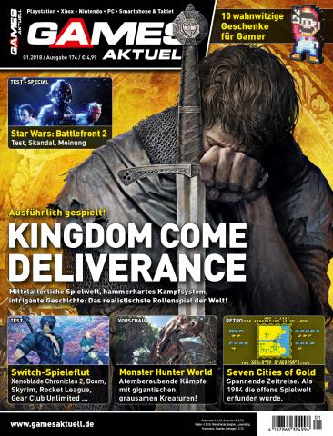 games aktuell 01 2018 kingdom come deliverance realistischstes rollenspiel der welt. Black Bedroom Furniture Sets. Home Design Ideas