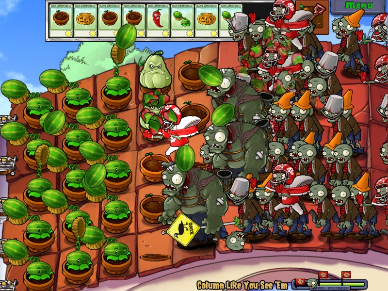 plants vs zombies tower of defense mit zombies. Black Bedroom Furniture Sets. Home Design Ideas