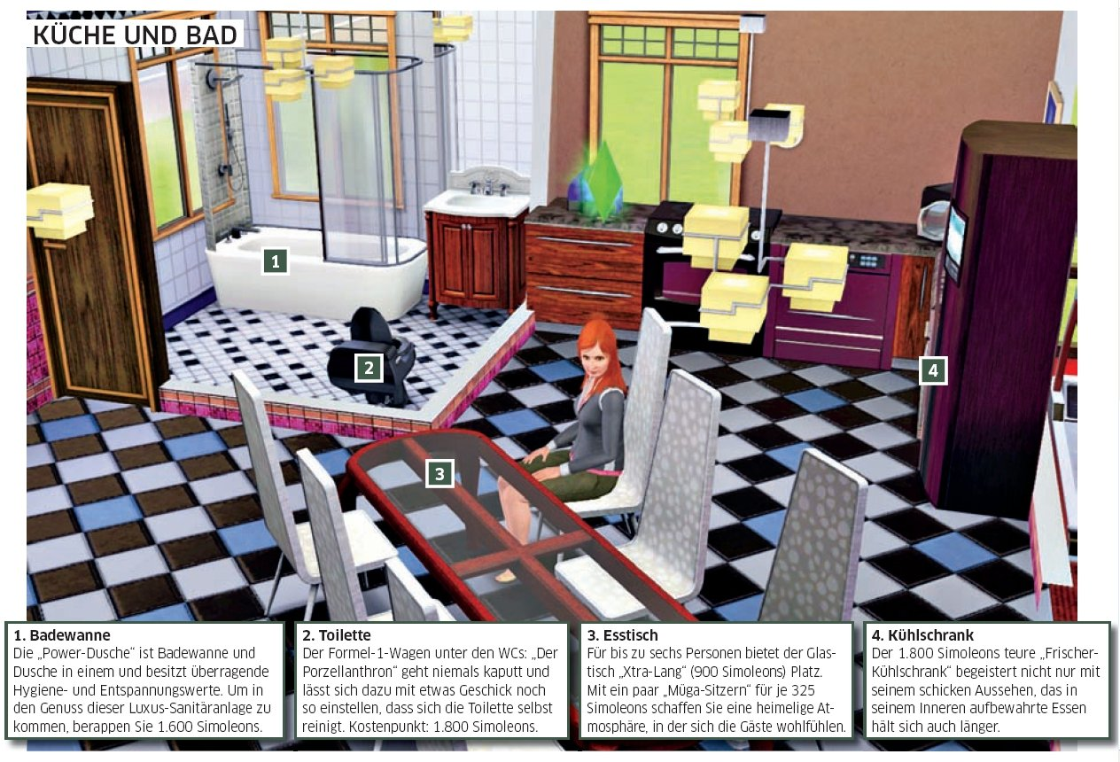 die sims 3 tipps die optimale wohnung f r junggeselle familie und yuppie bildergalerie bild 9. Black Bedroom Furniture Sets. Home Design Ideas