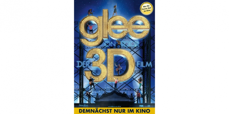 Glee On Tour - 3D Concert Movie. Ab Donnerstag im Kino