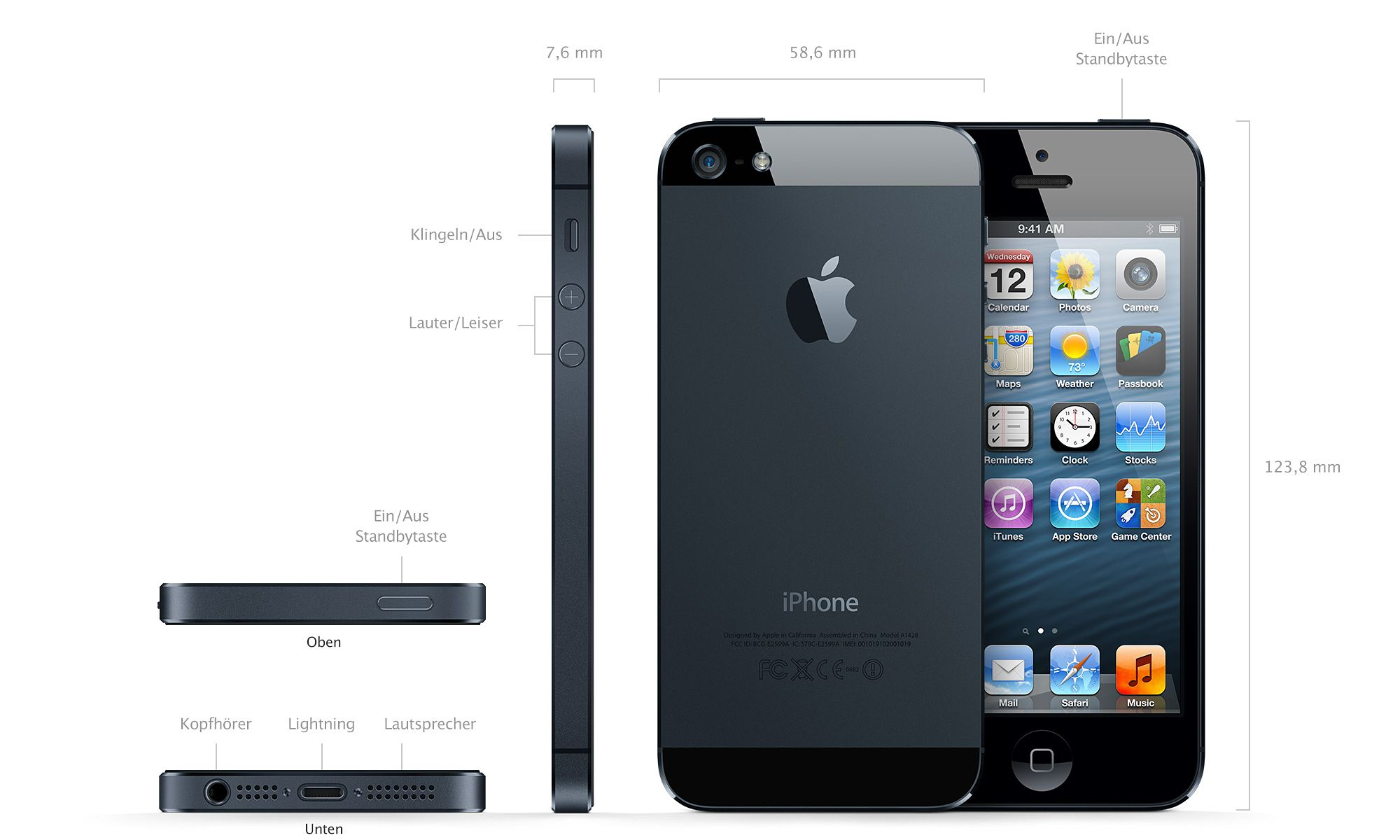 iphone 5s mit 5 zoll display und brandneuem design. Black Bedroom Furniture Sets. Home Design Ideas