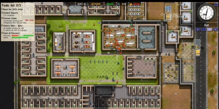 Prison Architect auf der Gamescom 2015.