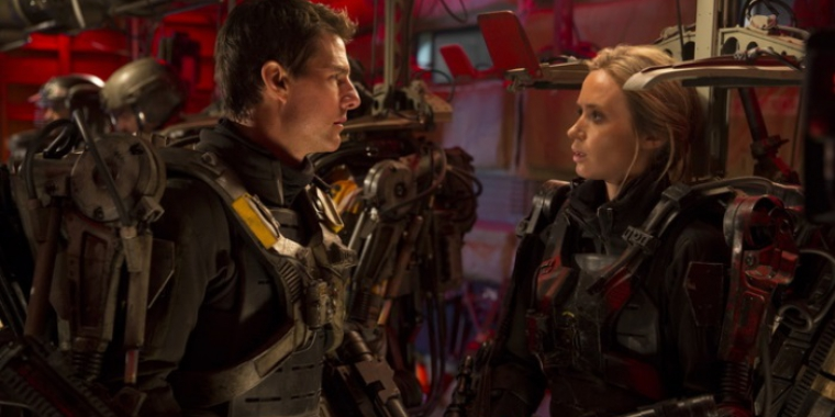 "Tom Cruise und Emily Blunt in ""Edge of Tomorrow"""