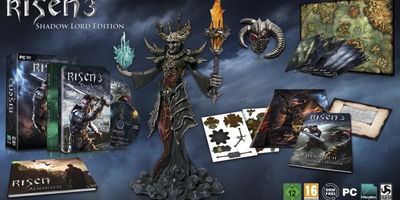 risen 3 titan lords inhalte der collector 39 s editions im. Black Bedroom Furniture Sets. Home Design Ideas