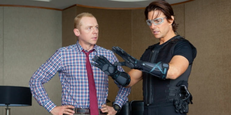 "Simon Pegg und Tom Cruise in ""Mission: Impossible - Phantom Protokoll"" (2011)"