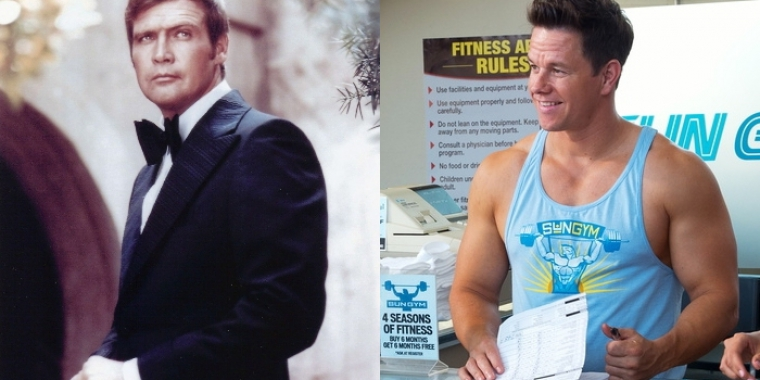 "Lee Majors in ""Der 6-Millionen-Dollar-Mann"" (1974-1978) und Mark Wahlberg in ""Pain & Gain"" (2013)"