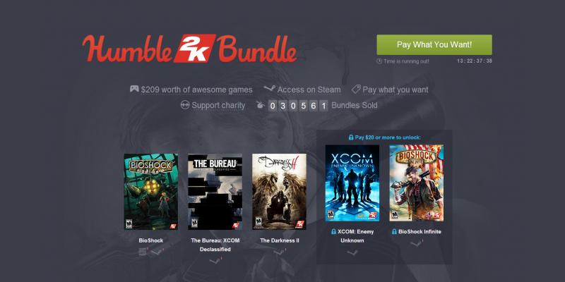 Humble Bundle Update: Humble Bundle: 2K-Bundle Mit Bioshock-Trilogie, Spec Ops