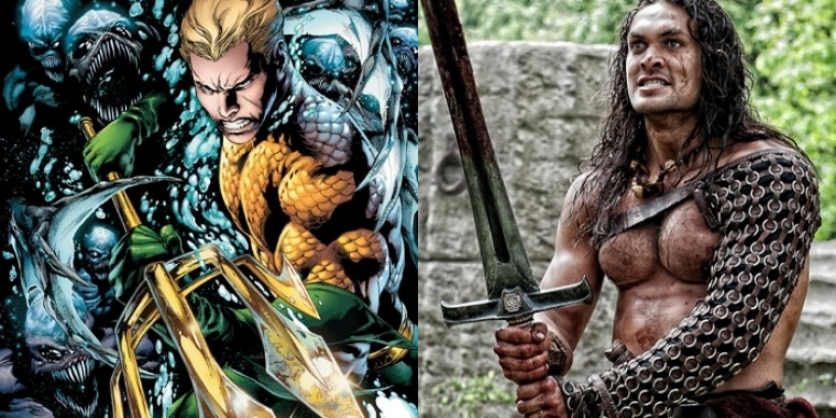 "Aquaman-Comic und Jason Momoa in ""Conan"" (2011)"